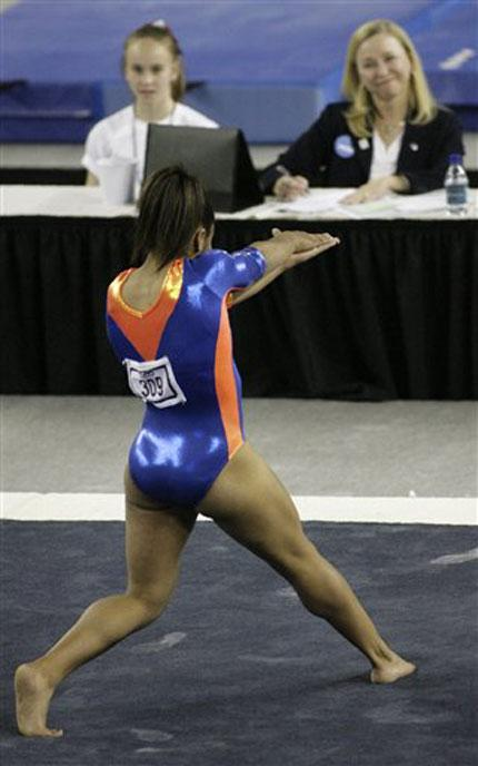 gymnast Melanie Sinclair