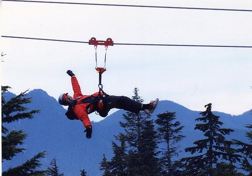 Zipline Grouse Mountain Vancouver Gymnastics Coaching