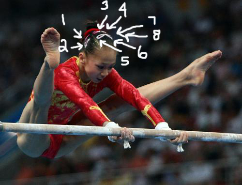 gymnast splits leotard at france meet