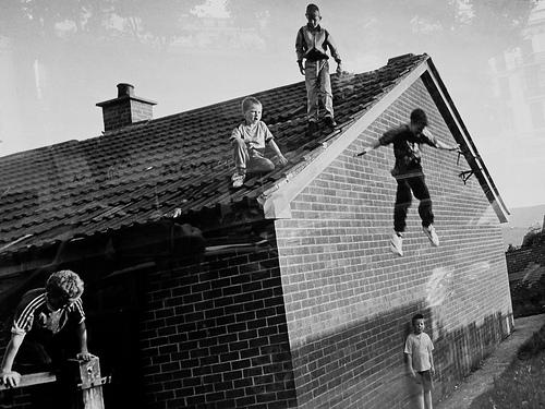 boys jumping