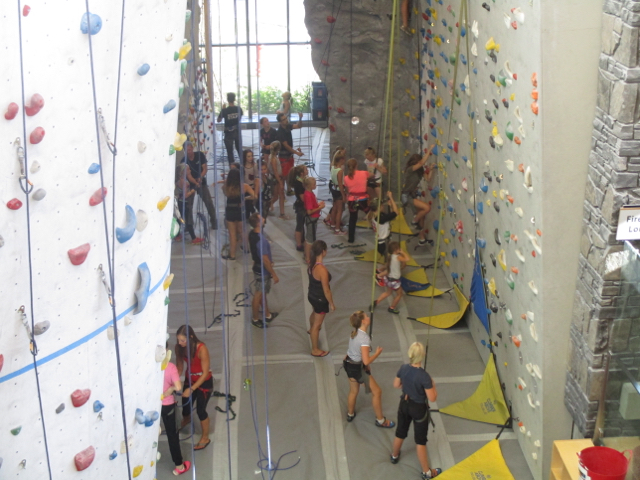 climbing & bouldering at Elevation Place
