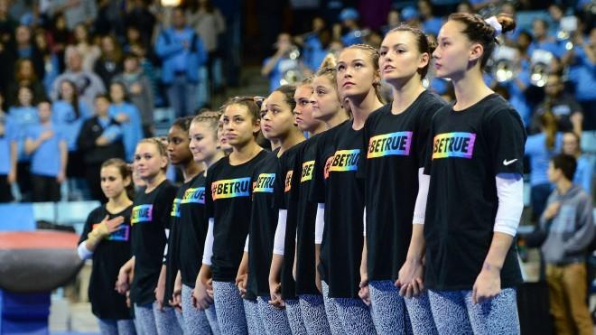 national anthem University of North Carolina Gymnastics v Florida Carmichael Arena Chapel Hill, NC Friday, January 20, 2017